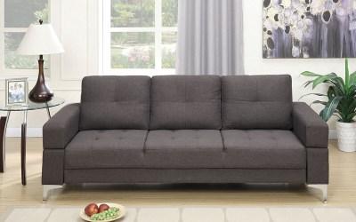 Adjustable Sofa – Ash Black Linen-Like Fabric
