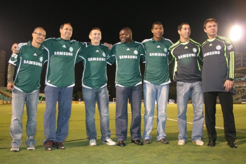 Alex, Evair, Galeano, Cléber, Júnior Baiano, Sérgio e Velloso. FOTO: Fabio Menotti