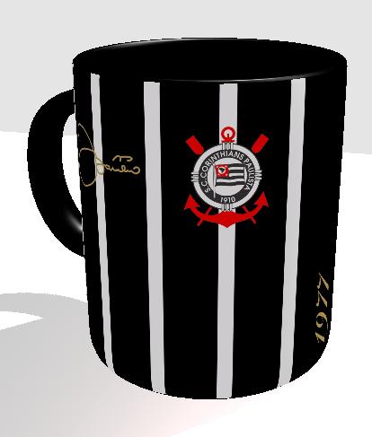 Caneca em homenagem ao gol decisivo do Basílio, em 1977.