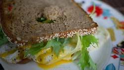 [10 min] Getoastetes Eiersandwich auf Vollkornbrot