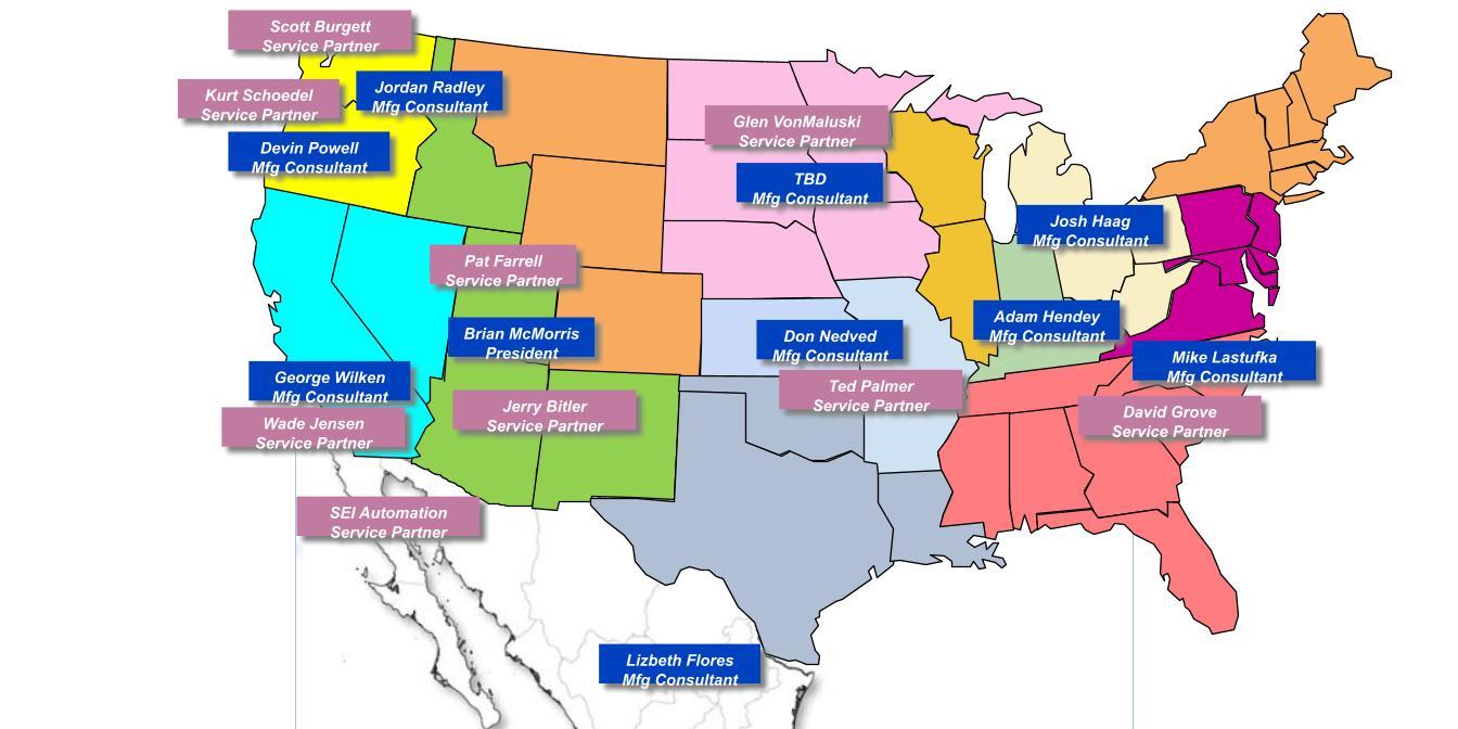 FA Sales Territory Map - Dec 2020