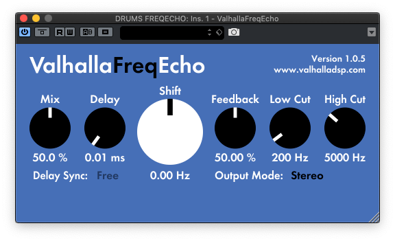 delays gratuitos - valhalla freqecho