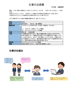 事業計画書 中学生社長