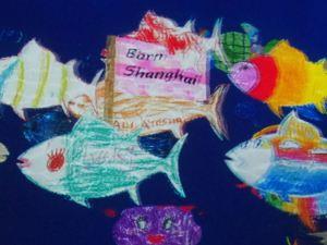 チームラボボーダレス 世界とつながったお絵かき水族館