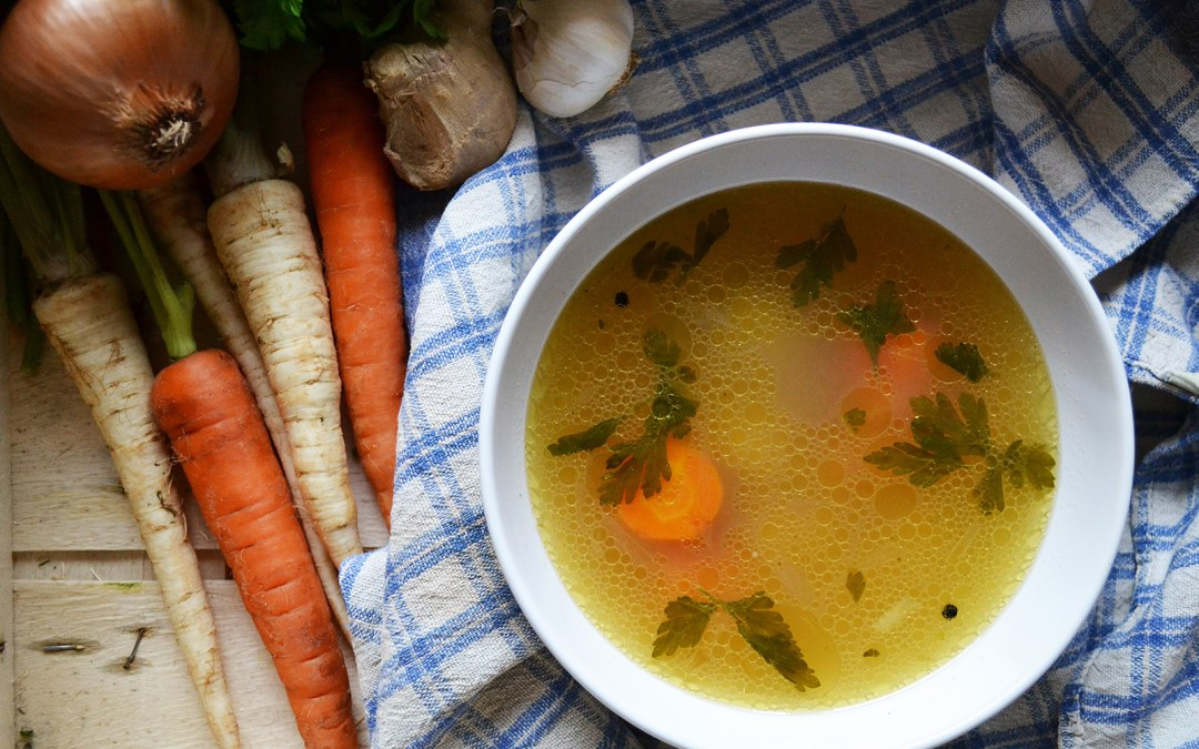 Vegetable Soup with Ginger
