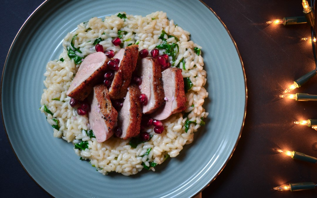 The Ultimate Christmas Dinner – Duck Breast With Spinach Risotto