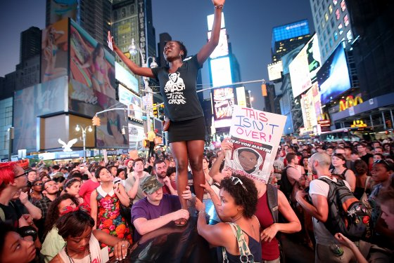 Trayvon Martin supporters rally in Times Square (Source: Mario Tama/ Getty Images)