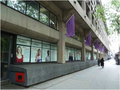Fig 2: King's College at least recognizes that its windows have commercial value and can be used to build the brand.