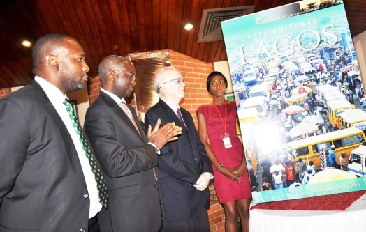 Kaye Whiteman and Governor Babatunde Fashola (SAN) at the book launch in Lagos Image from www.nairaland.com
