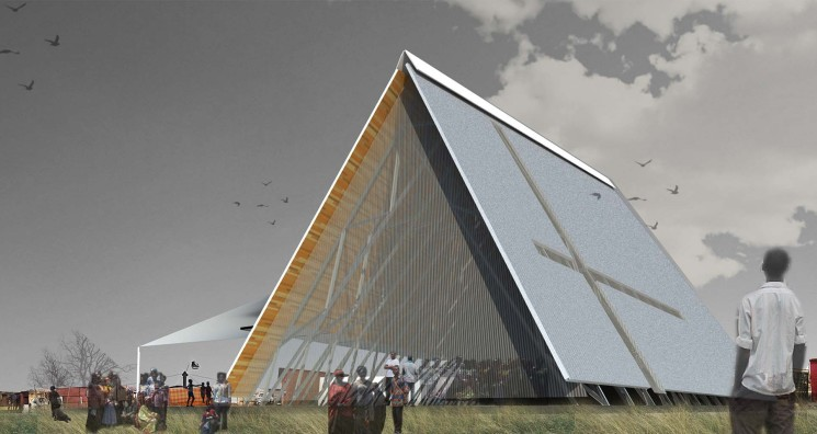 Render for the Community Church of Zandspruit, currently being crowdfunded at Make Architecture Happen. Image Courtesy of Architecture for a Change