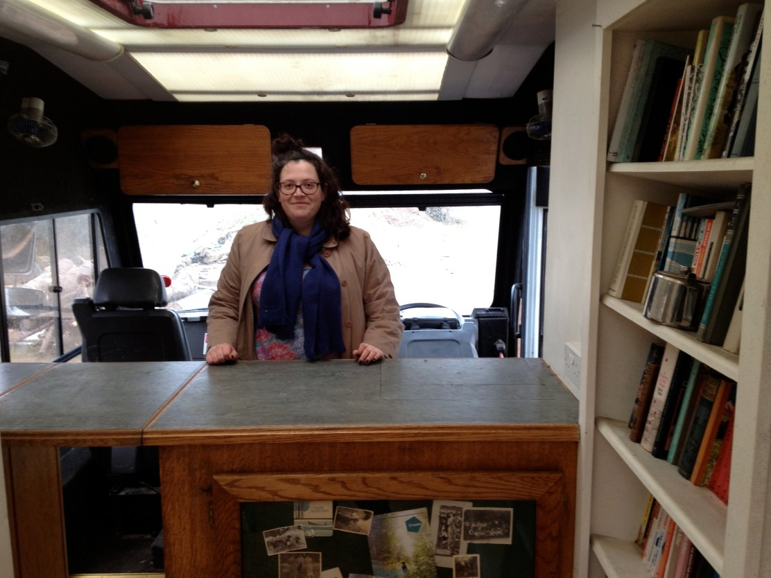 Artists Verity-Jane Keefe in the soon-to-be launched Mobile Museum