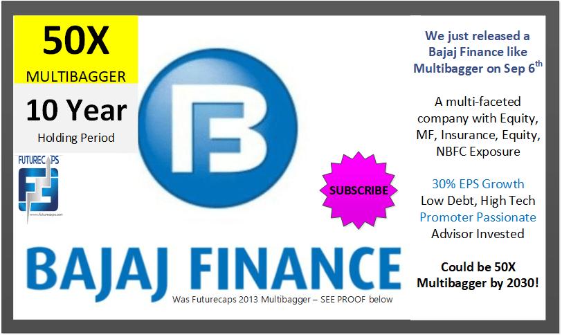 bajaj finance futurecaps multibagger 2013 50 times returns 2021
