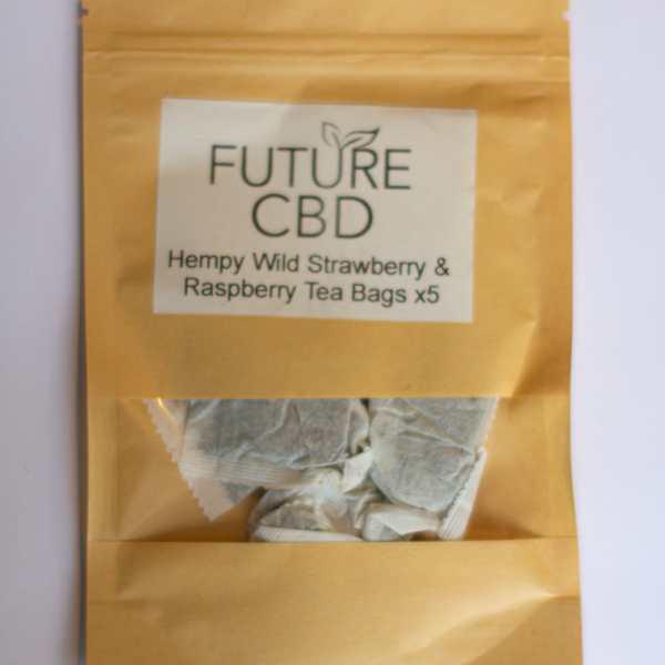 Hempy Wild Strawberry & Raspberry CBD Tea Bags (5pcs)