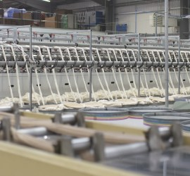 Textile production in a mill