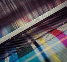 Close up of Joshua Ellis loom