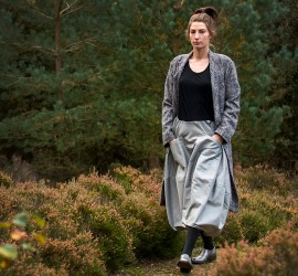 Model wears a Nomad top, skirt, jacket and shoes. Image: Chris Sedgewick