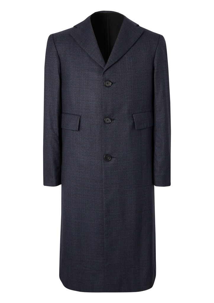 A tailored unisex jacket by Ben Osborn in navy Dormeuil wool