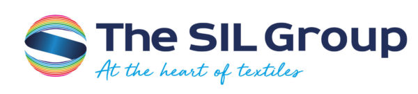 "SIL Group company logo with strapline ""At the heart of textiles"""