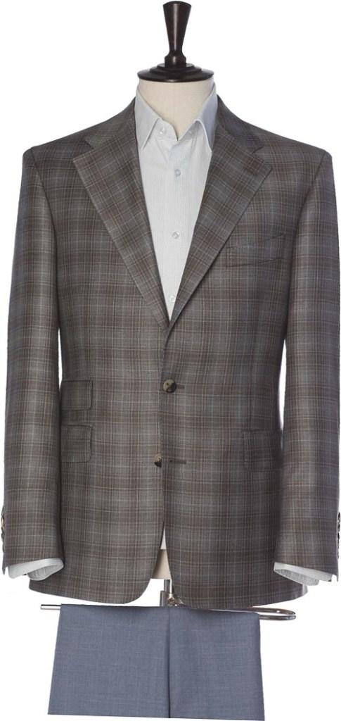 Alexander Rose single-breasted check tweed jacket in shades of grey