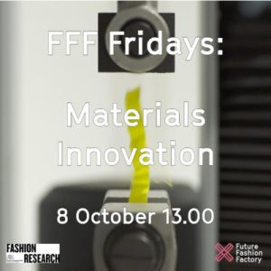 FFF Fridays Materials Innovation 8 October 13.00