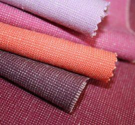 Pink, purple and orange fabrics