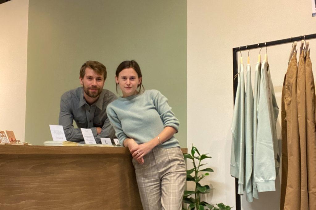 Josefin Wanner and James Fenwick inside Tråd Collective