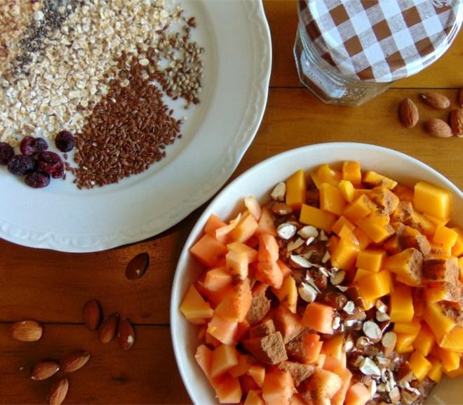 Power-Frühstück Basic mit Mango und Papaya