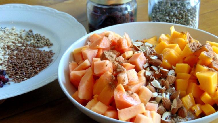 gesundes frühstück haferflocken