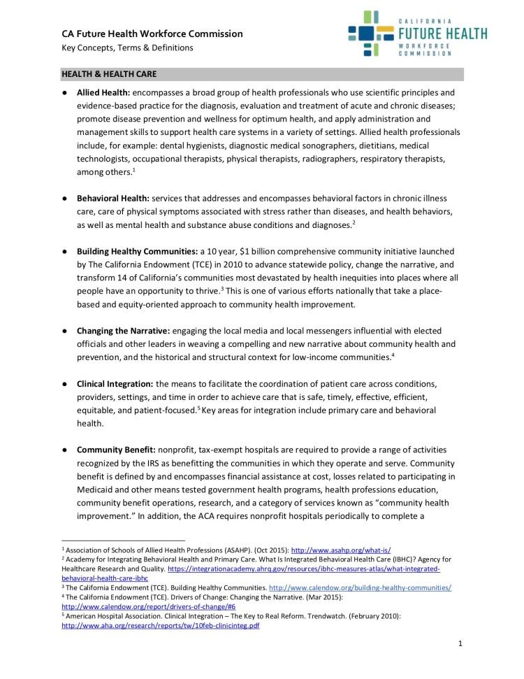5. CFHWC Key Terms
