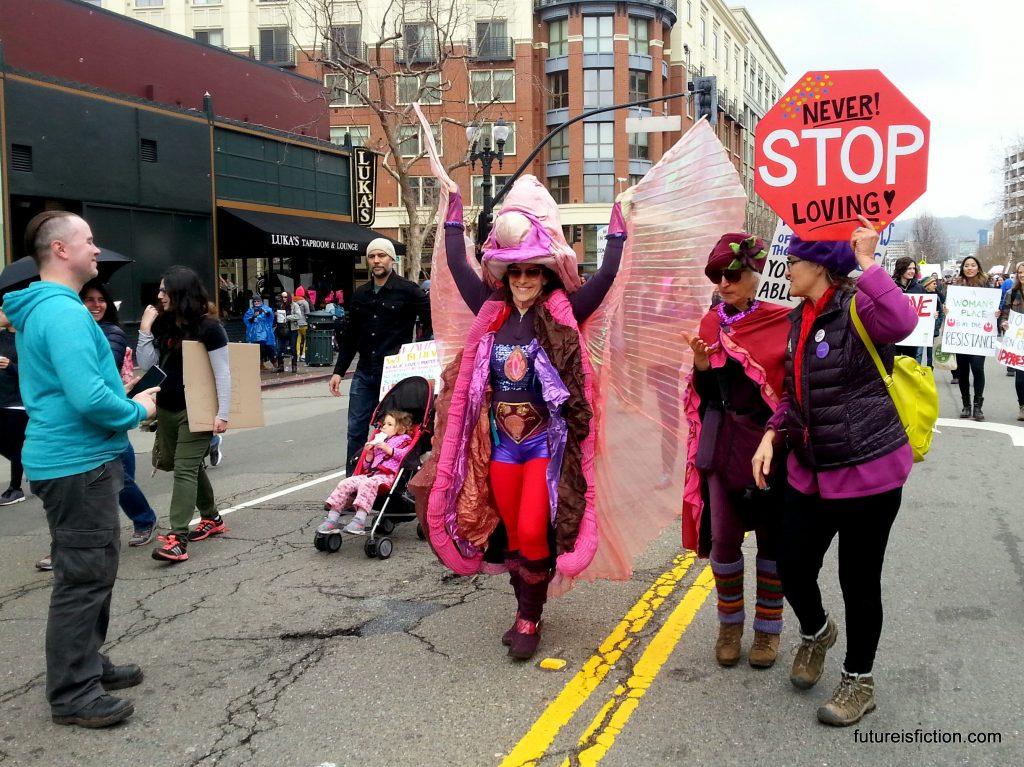 elaborate vagina costume, Women's March Oakland 2017