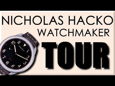 AMAZING Machine Shop Tour: Nicholas Hacko Watchmaker!