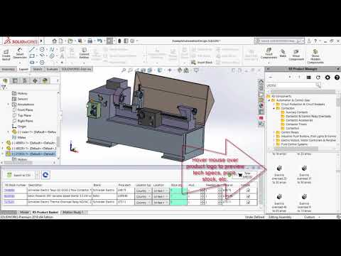 RS Components SOLIDWORKS™ add-in – Demo