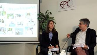 Simona Pronckutė, member of FutureLab Europe and Sven Giegold, Member of the European Parliament