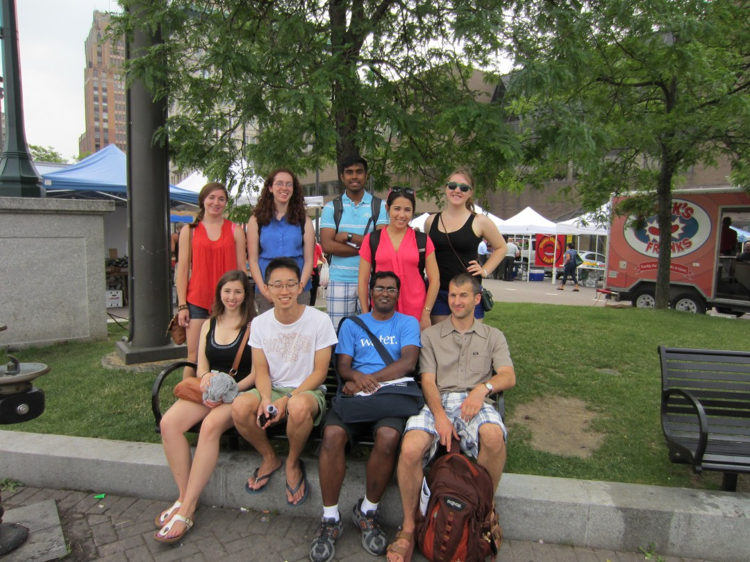 New York State Water Resources Institute staff and summer interns at a field trip