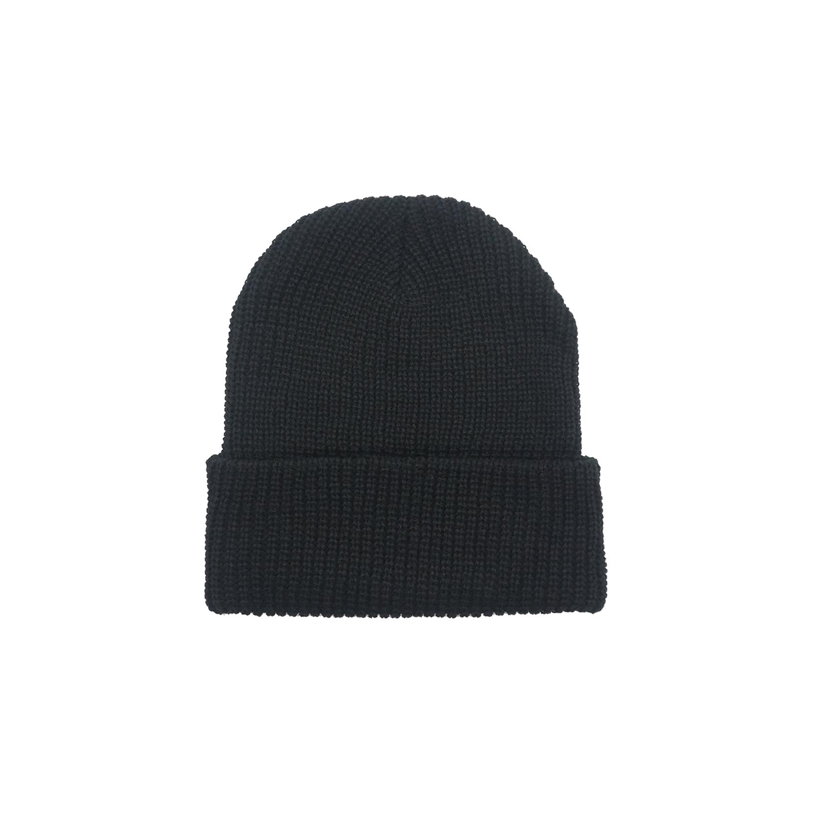Rib Knit Beanie – Black