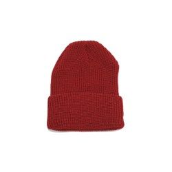 Rib Knit Beanie – Red