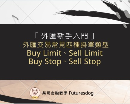 外匯交易常見四種掛單類型:Buy Limit、Sell Limit、Buy Stop、Sell Stop