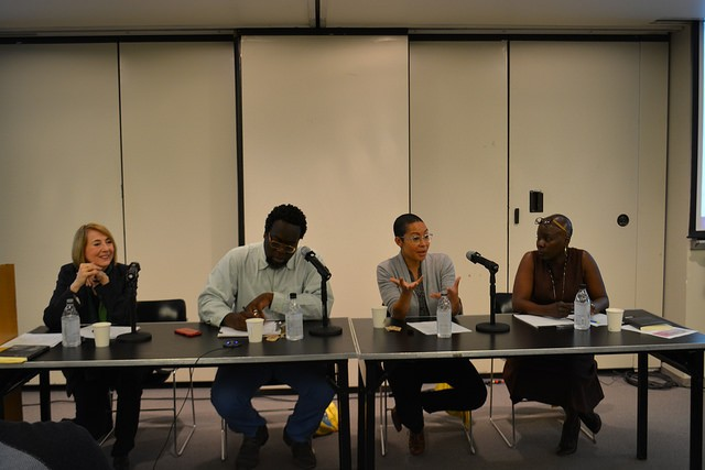 The panelists respond to audience questions