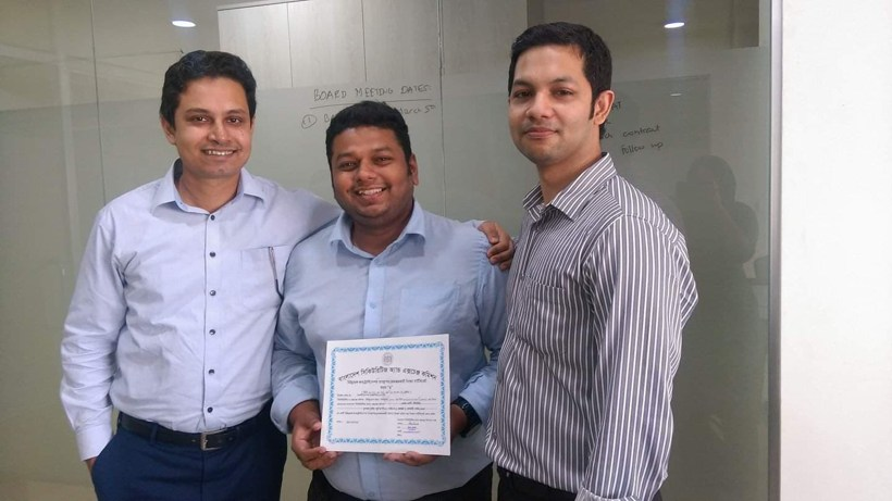 Founders of EDGE AMC Limited, And EDGE Research And Consulting Limited, Ali Imam, Khandakar Safwan Saad, and Asif Khan (from left to right) | Photo by EDGE