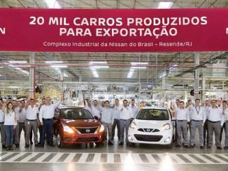 Nissan chega à marca de 20 mil veículos exportados
