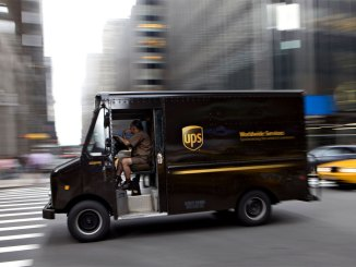 veículos a diesel da UPS em elétricos