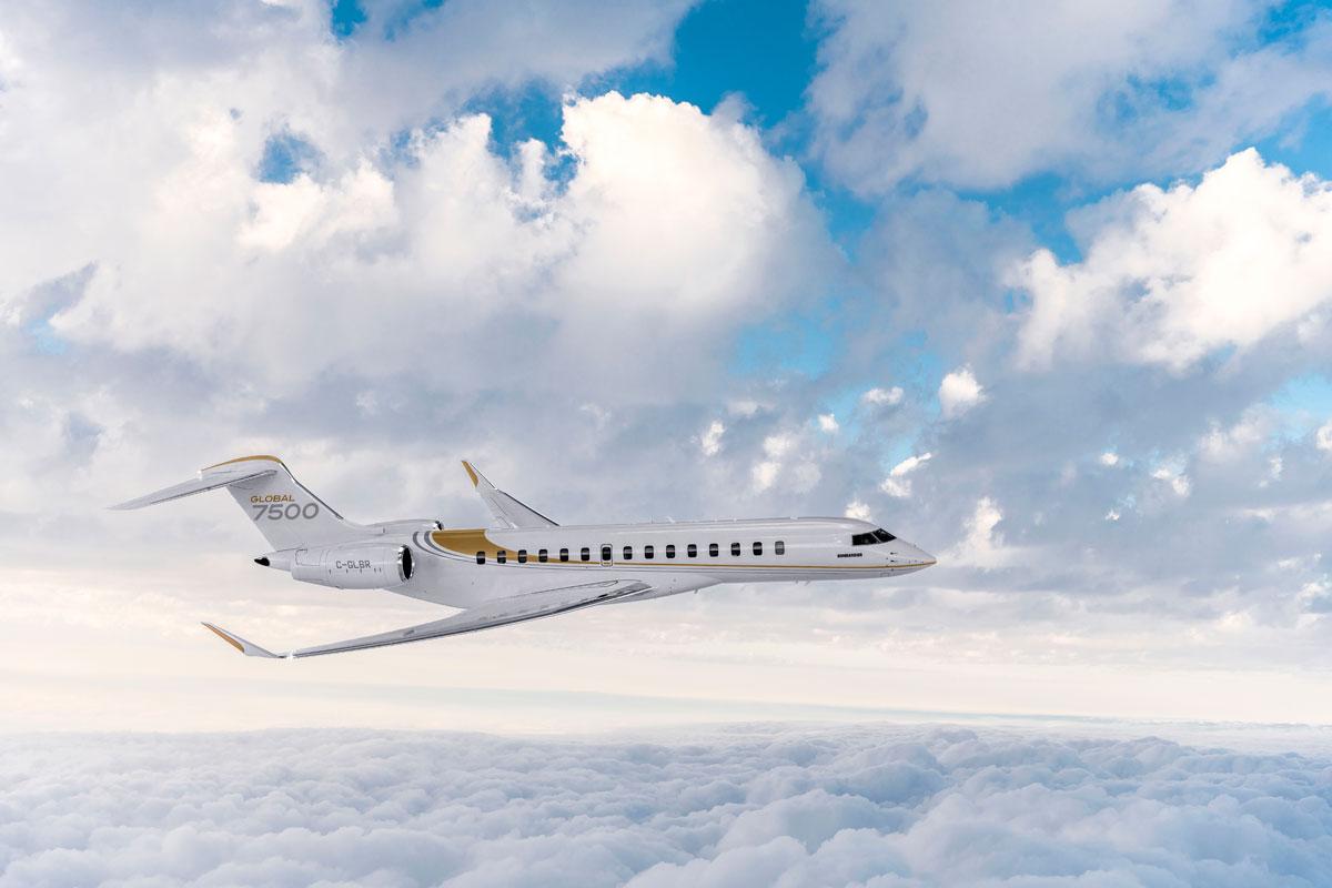 Global 7500, aeronave Bombardier de longo alcance