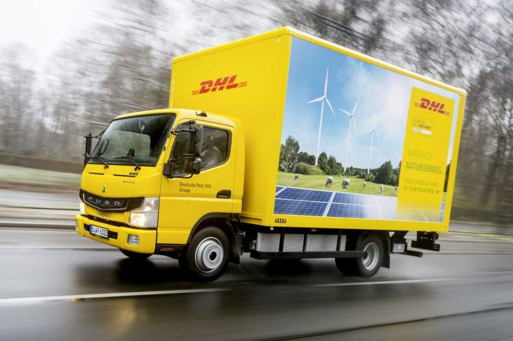 Fuso eCanter da DHL, veículos elétricos do Grupo Daimler