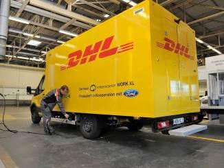 vans elétricas para a DHL