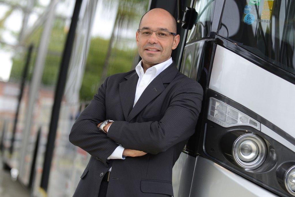 Walter Barbosa, demonstração de ônibus Mercedes-Benz