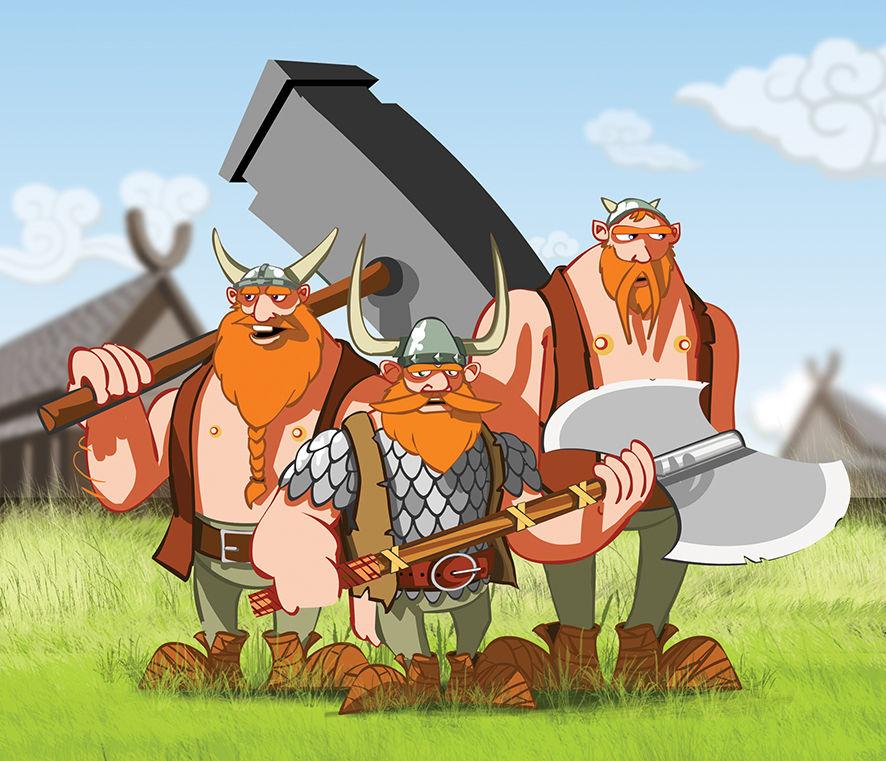 Прикольные картинки игра викинги