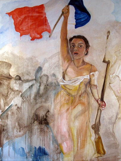 19-j'ai deux amours-oil on canvas,214x166 cm, 2009