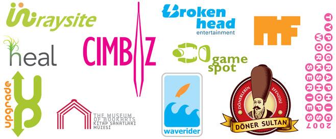 Logo çalışmalarına örnekler