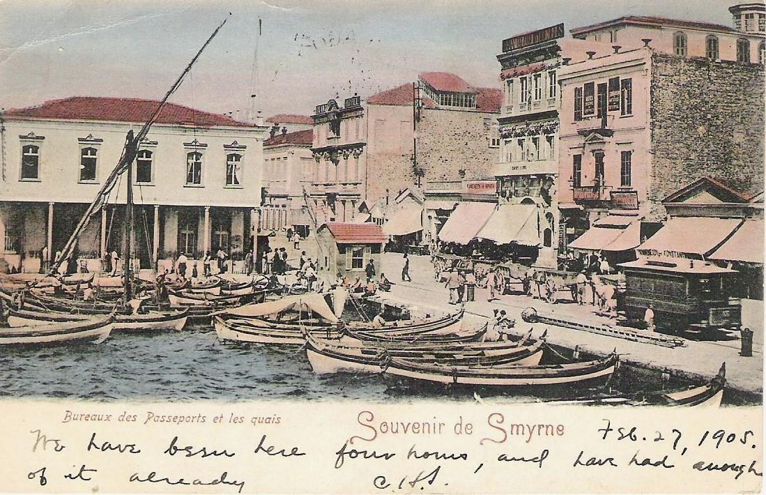 1905 yılında gönderilen bir kartpostal 1