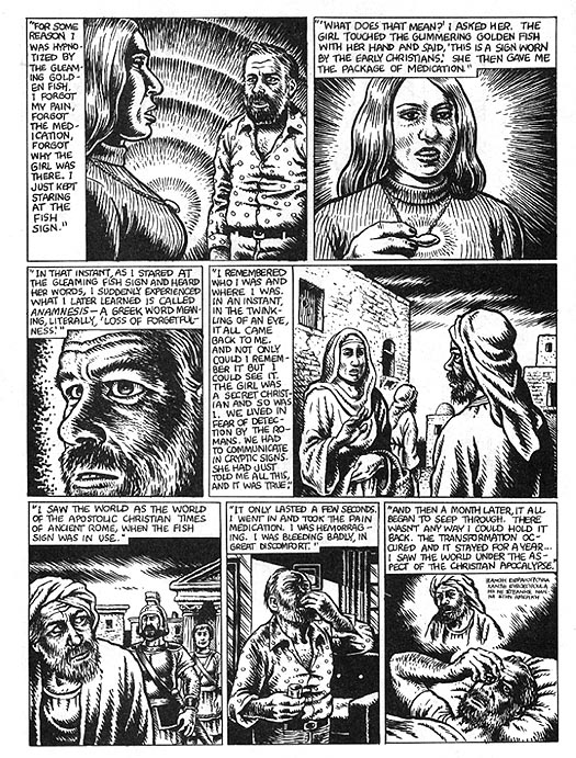 The Religious Experience of Philip K. Dick by R. Crumb from Weirdo #17 2